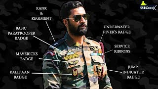 Decoding The Medal and Badges of Major Vihaan Shergill (Vicky Kaushal) PARA SF - URI Movie