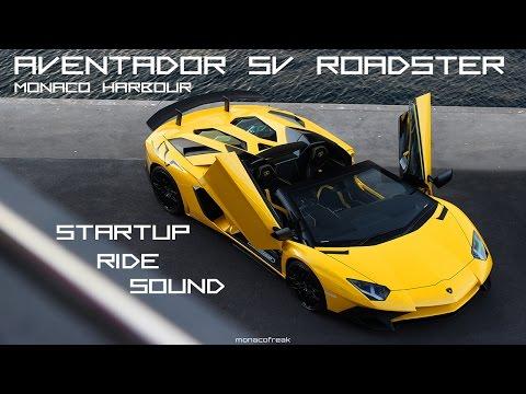 Lamborghini Aventador SV Roadster STARTUP - RIDE - SOUND