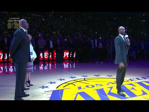 a284983d9 Kobe Bryant s Jersey Retirement and Speech - YouTube