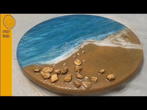  27  Resin Art Ocean Scene with waves and real beach sand 🌊🌊