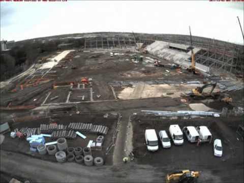 Rotherham United FC - New Stadium Construction Timelapse Aug 2011 - Feb 2012