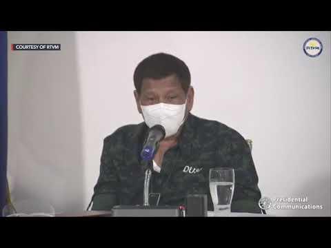 Duterte, officials exchange sex jokes in post-typhoon briefing