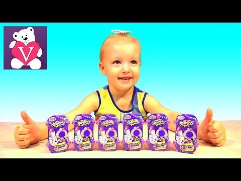 Видео: Шопкинс корзинки сюрпризы с игрушками распаковка Shopkins surprise toys unboxing