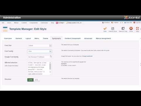 Administrator Overview - Sj Jare Responsive Joomla Template
