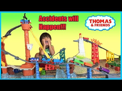Ryan plays Thomas and Friends Toy Trains for Kids