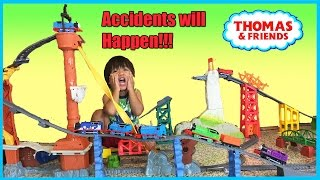 Thomas and Friends Accidents will Happen Playtime Toy Trains Kid James Percy Gordon  Ryan ToysReview