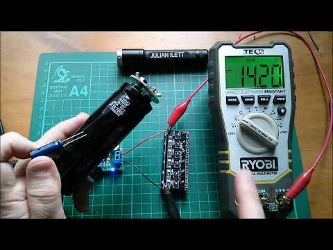 Anti Backfeed Test - 10 Farad Super Capacitors and LTC3780
