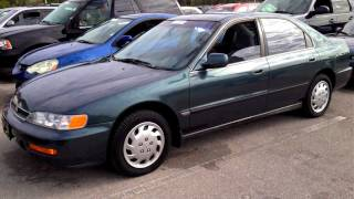 1996 Honda Accord LX Start Up, Quick Tour, Rev - 127K