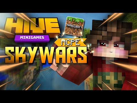 THE HİVE SKYWARS SERVER MCPE !!! [ Minecraft Bedrock ( Pocket ) Edition ] İOS ANDROİD W10