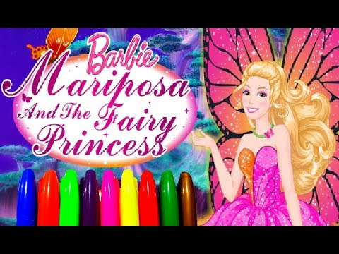 BARBIE Mariposa And The Fairy Princess Kids Girls Coloring Pages Children Learning Art