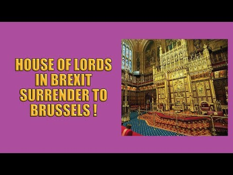 Anti-Brexit Lords Surrender the UK to Brussels!