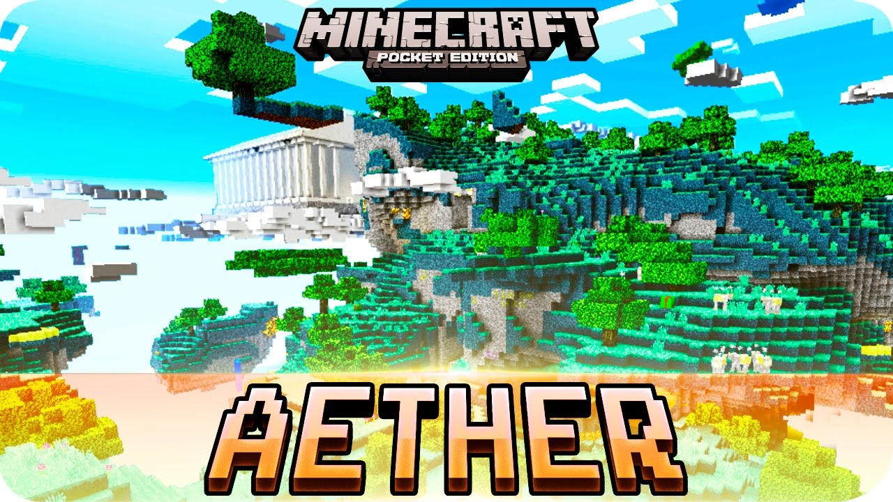 Minecraft PE Maps New AETHER Dimension Without Mods IOS Android - Mapas para minecraft pe 0 15 x