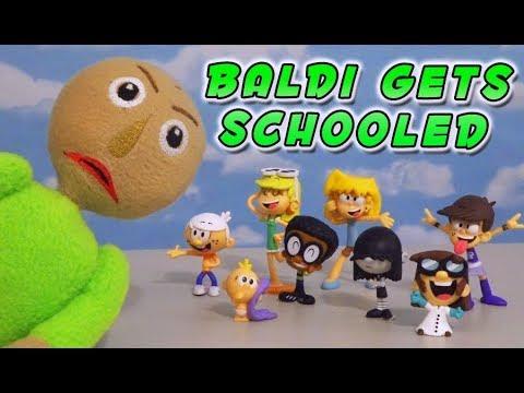 BALDIs Basics vs LOUD HOUSE Kids  Episode Toy Unboxing
