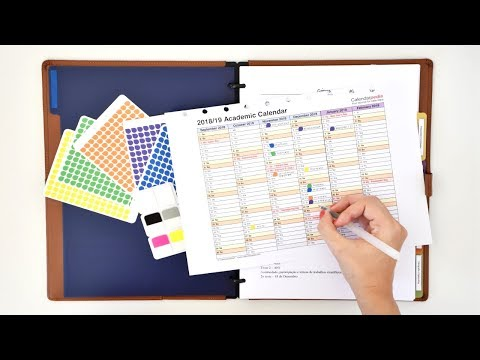 HOW TO SET UP A NOTEBOOK » notebook organisation & customisation