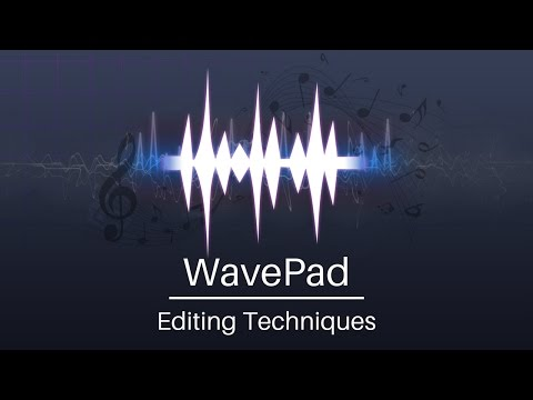 WavePad Audio Editor Tutorial | Editing Techniques