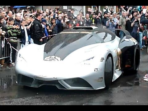 Gumball 3000 (2013) Start Copenhagen loud acceleration