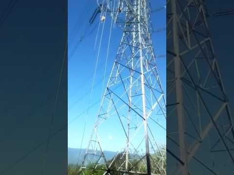 Proses penyambungan kabel/pngepresan tensen tower Suter 275 kv