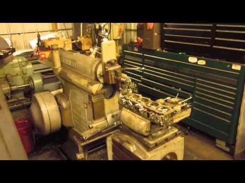"Cincinnati 24"" Shaper resurfacing cylinder head."