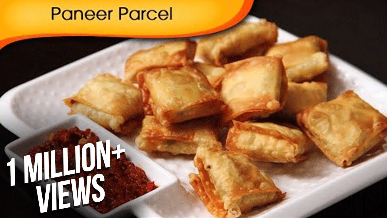 Paneer Parcel - Quick Easy To Make Party Starter / Crispy Snack Recipe By  Ruchi Bharani