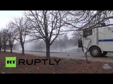 Turkey: Clashes erupt between pro-Kurdish protesters and police in Ankara