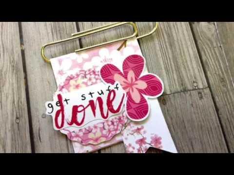 DIY Paper Clip Video #1 (Cocoa Daisy Cherish Blossom Planner kits)