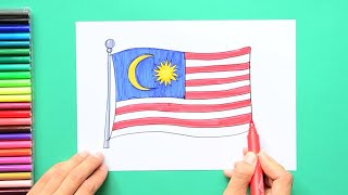 How to draw and color the Flag of Malaysia