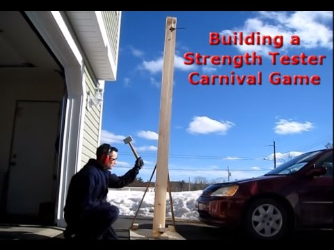 How to build a strength tester carnival game youtube youtube premium solutioingenieria Gallery