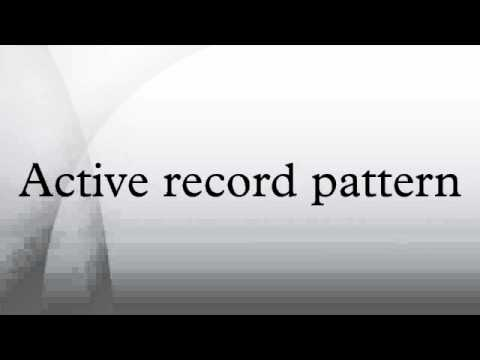 Active record pattern