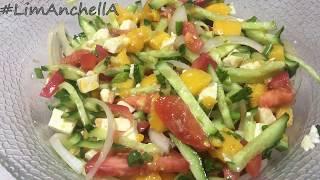 Овощной салат с манго. Легкий, полезный, вкусный!  #рецептысалатов
