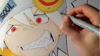Soul Eater Evans - Copic Speed Drawing