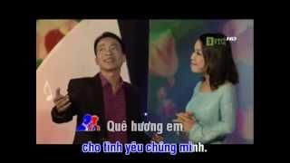 Anh hãy về quê em - Karaoke - (Song ca) L