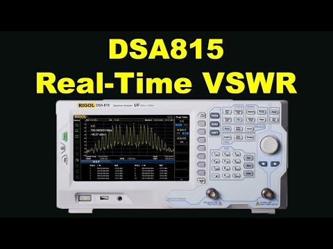 RIGOL DSA815 Spectrum Analyser discovers real-time VSWR of 144MHz 2m  antenna    in real time