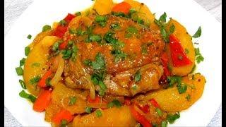 Вкусно - Курица с Картошкой Запеченная в Духовке Картошка с Курицей Рецепт