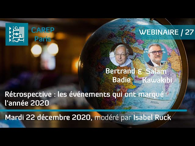 Webinaire 27 / Rétrospective : les événements qui ont marqué l'année 2020