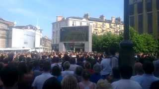 Andy Murray wins Wimbledon full last game at Festival Square Edinburgh Crowd Reaction