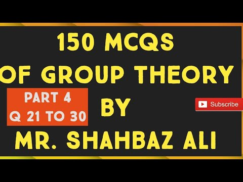 Ppsc Part 2 Mcqs Of Group Theory Mr Shahbaz Ali Youtube
