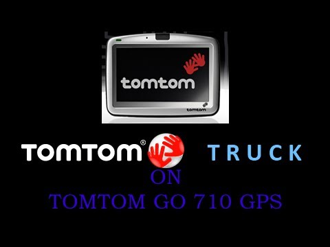 tomtom go 710 using truck navcore youtube. Black Bedroom Furniture Sets. Home Design Ideas