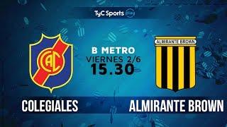 Colegiales vs Almirante Brown full match