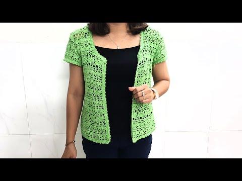 HƯỚNG DẪN MÓC ÁO KHOÁC NHẸ ( Phần 2)// Crochet Coat