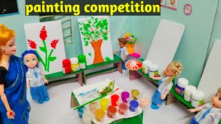 Painting competition in school /who is the winner😀🤔/Barbie show in tamil/Mini cooking Tamil