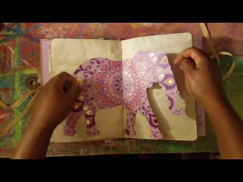 Journal Flip || Custom Order   Elephant Themed Journal