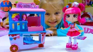 ШОПКИНС Игровой набор Магазин Сладостей Видео для детей Распаковка Shopkins Toy