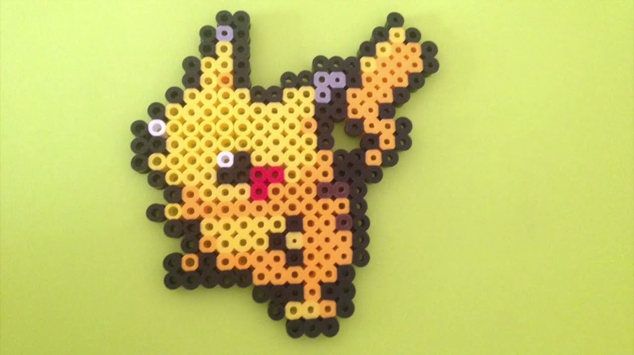 perler bead tutorial pikachu youtube
