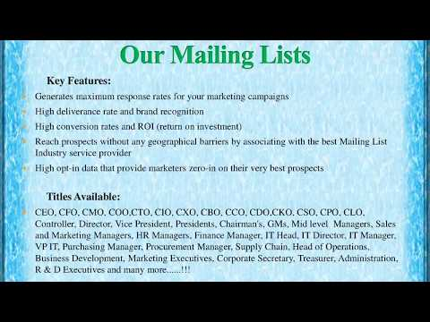Fortune 1000 Companies  Email List helps you to promote the brand in the best attractive manner