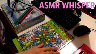 ASMR DRAWING ANTISTRESS COLORING/ RUSSIAN WHISPER/АСМР РИСОВАНИЕ КАРАНДАШОМ АНТИСТРЕСС РАСКРАСКА