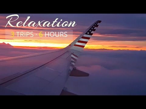 Airplane Sounds Compilation | Airplane cabin white noise for Sleeping  | 3 Trips · 6 Hours