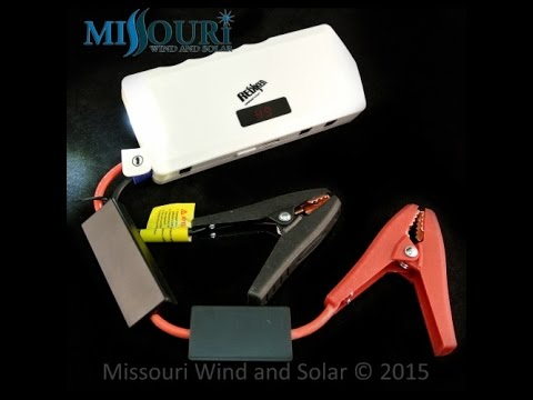 Multifunction jump starter lithium battery pack prepping