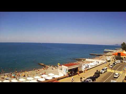 Пляж Чайка (Адлер)  Вид с WEB камеры 12.06.2018 11:40 Chaika Beach (Adler)