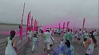 The Color Run 2012, Happiest 5k Run Ever, Irvine California, Start to Finish ATC9K HD Action Cam