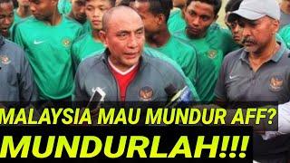 """MALAYSIA ANCAM MUNDUR, KETUM PSSI;""""MUNDURLAH!PASCA D1HIN4 SUPORTER INDONESIA;BENDERA DIBALIK;TIMNAS"""